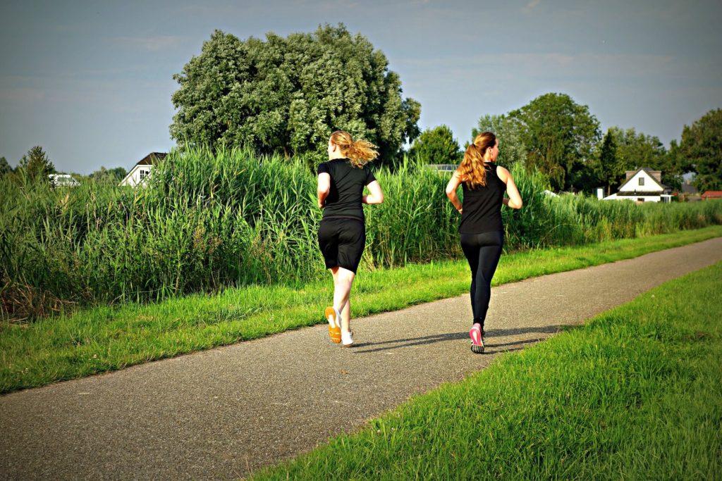 Jogging clear skin