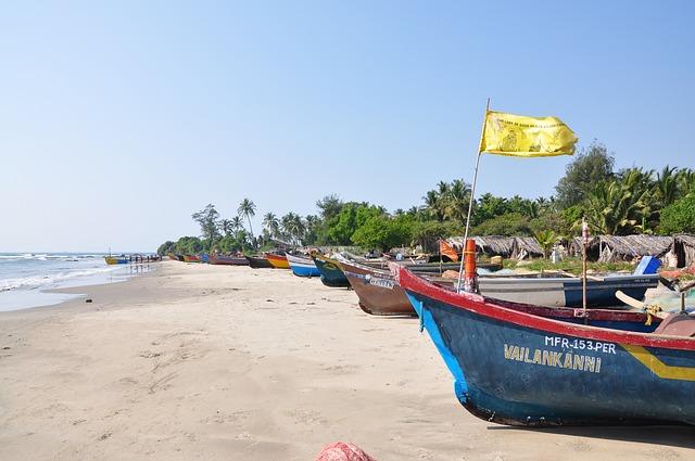 goa, beach, boat