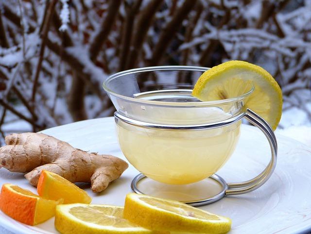 lemon, ginger, orange