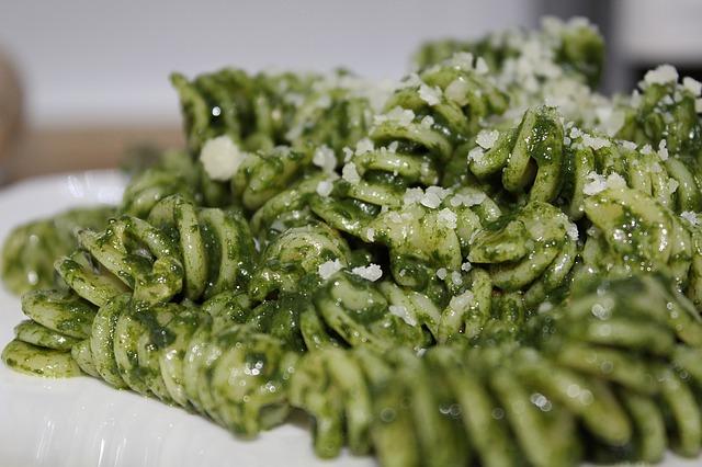 pasta, food, green