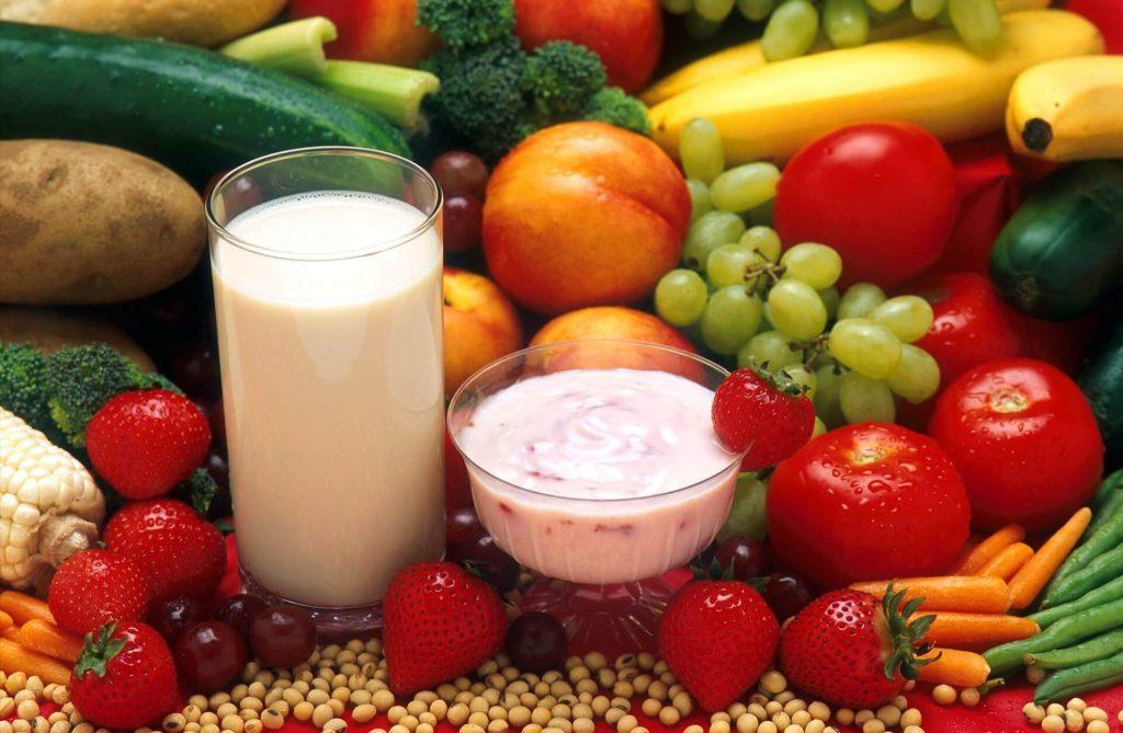Healthy food clear skin